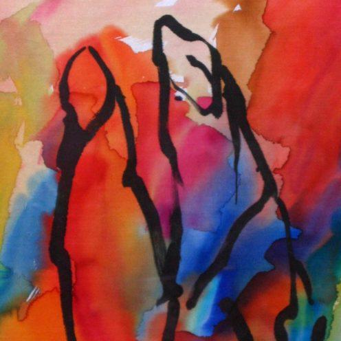 Pintura sobre seda